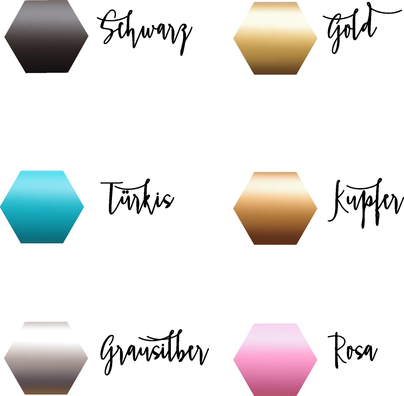 Wandsticker Farben