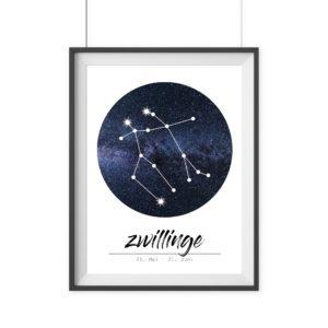 Sternzeichen Widder Poster Geschenk Wanddekoration